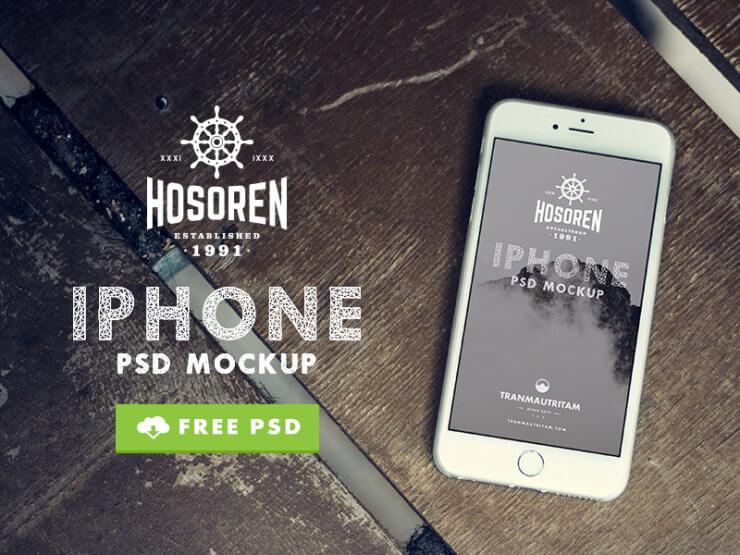 31 Maquetas de alta calidad y realistas gratuitas para iPhone 6 PSD