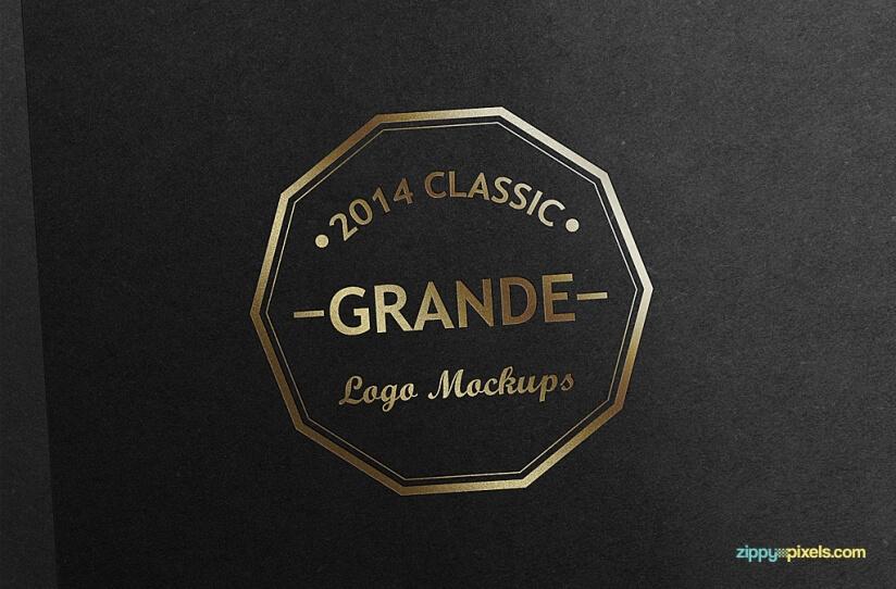 7 Maquetas de Logotipo de PSD Fotorealista Gratis