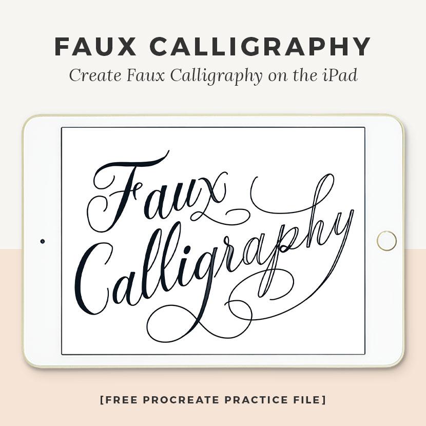 Cómo crear una caligrafía falsa en procreate