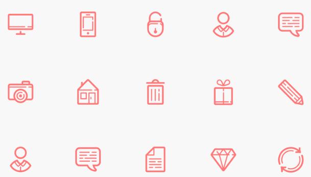 iconos simples bonitos