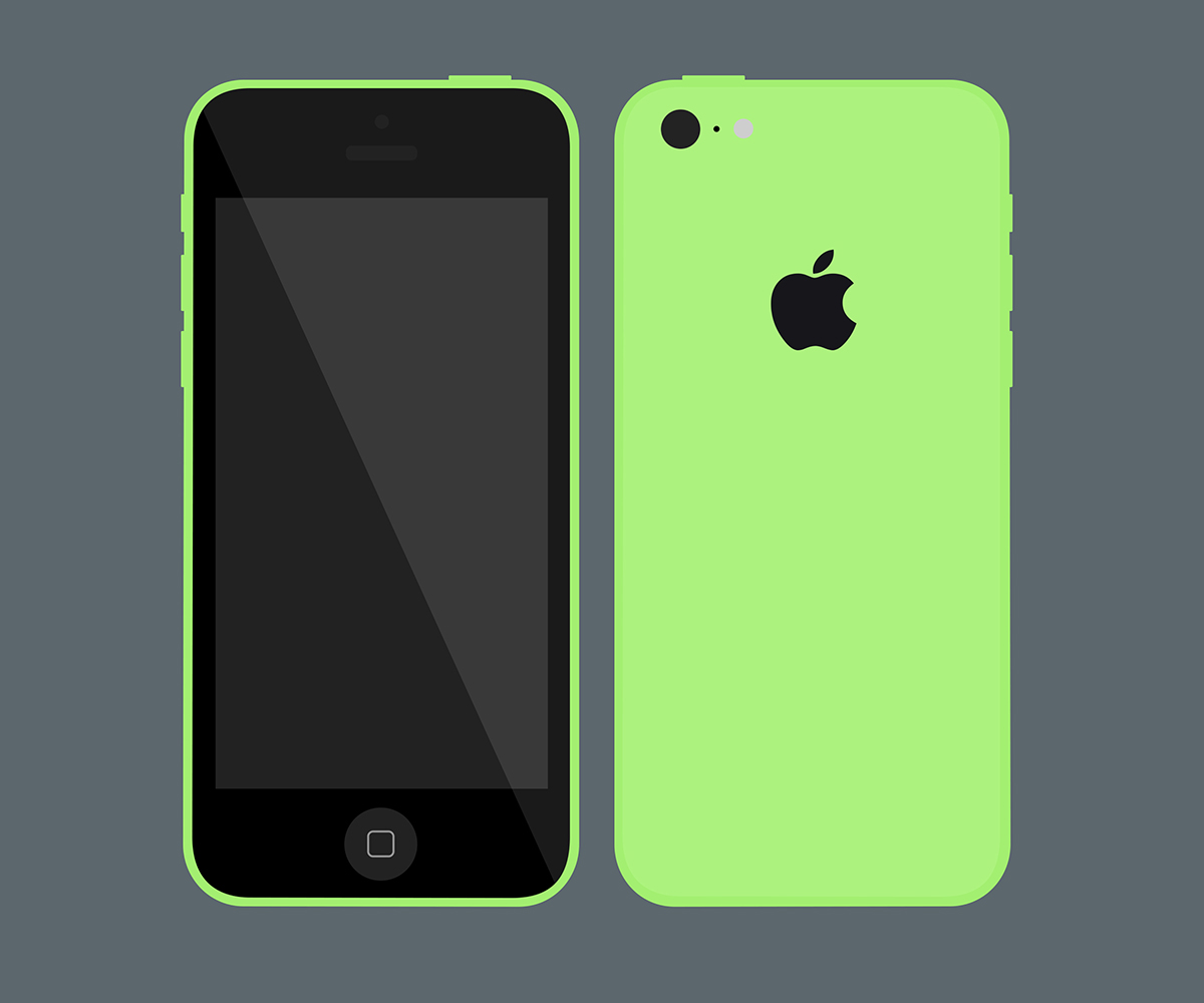 Fichero plano iPhone 5c Mockup PSD