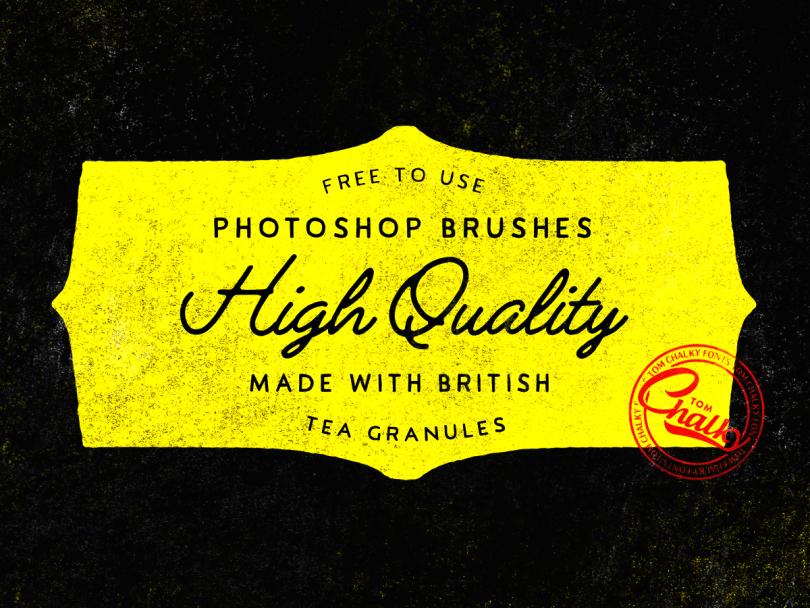10 Pinceles de Photoshop libres y arenosos hechos con gránulos de té