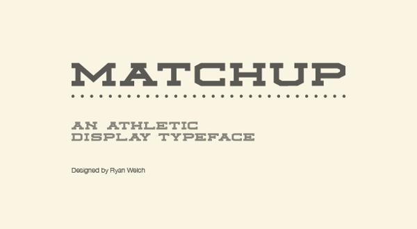 Descarga gratuita de fuentes – Matchup Font – por Ryan Welch
