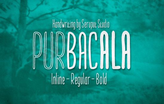 Tipo de letra Purbacala – Versiones Free y Pro disponibles
