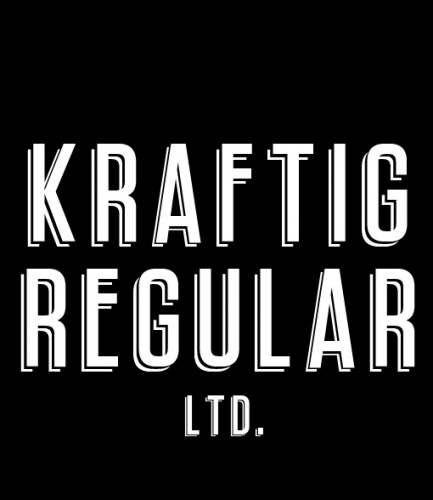 Fuente libre: Kräftig Regular Ltd