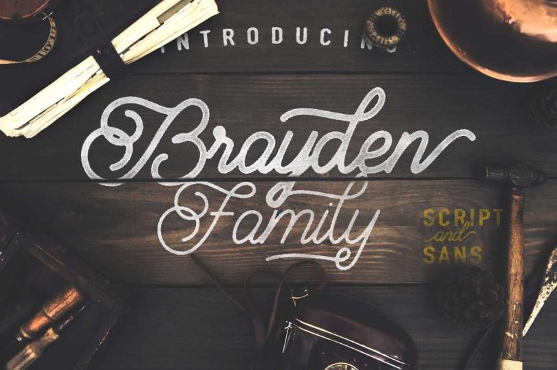 Exclusivo Dúo de fuentes gratuitas! Brayden por Adam Fathony