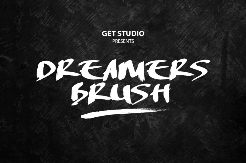 Fuente de cepillo artesanal gratis – Dreamers Brush by Get Studio