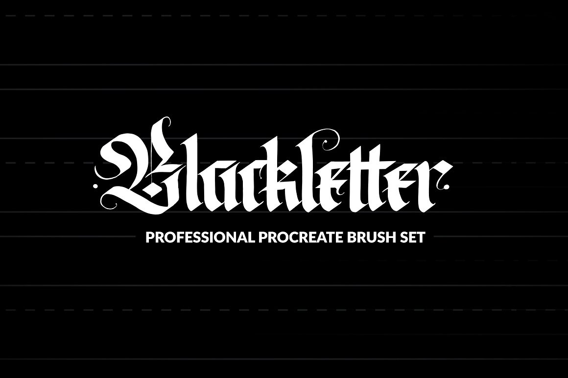 Pro Blackletter Procreate pinceles