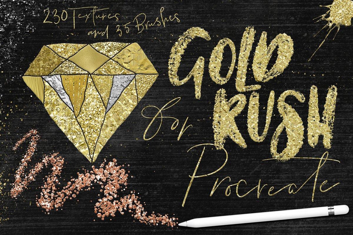 Fiebre del oro de Procreate