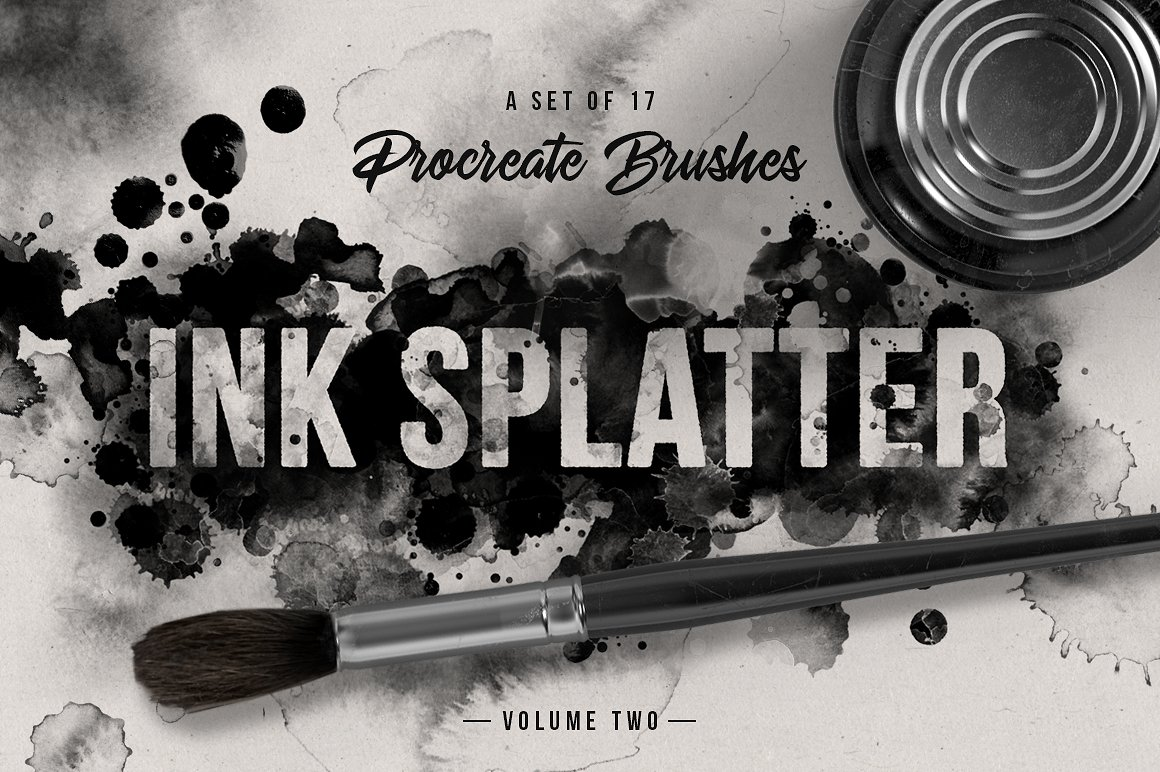Salpicaduras de tinta pinceles Procreate vol.2