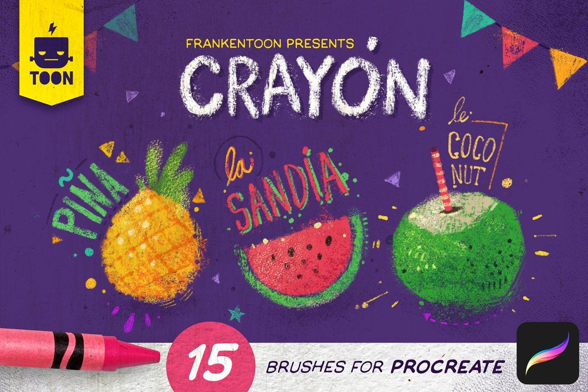 Crayón – Procreate paquete de pincel