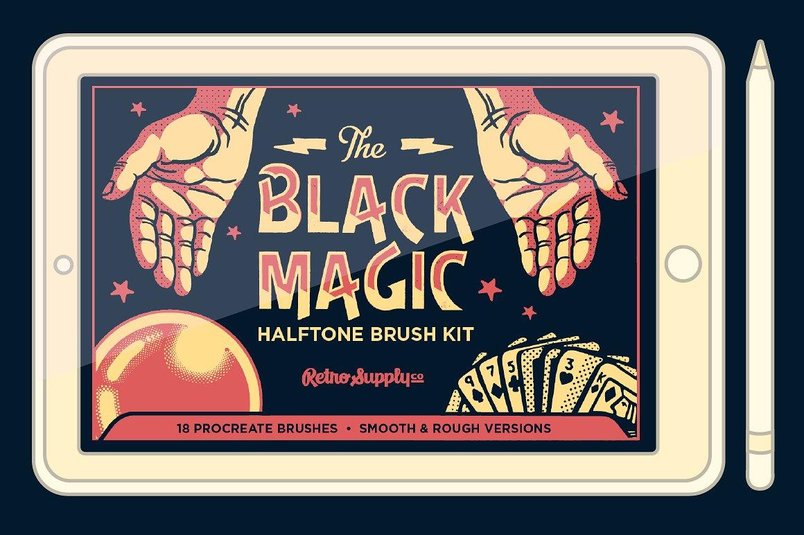 Los medios tonos negro mágico de Procreate